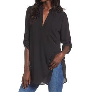 Lush Women's Perfect Henley Tunic in Black